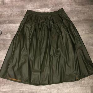 Dresses & Skirts - Faux leather midi skirt.